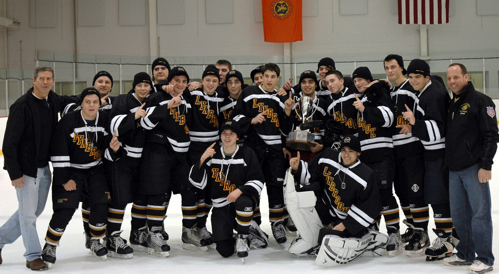 The Lynbrook-East Rockaway varsity hockey team won the Liberty Division championship in January, and earned a trip to the New York State Club School Hockey Varsity Open Division championship last weekend.
