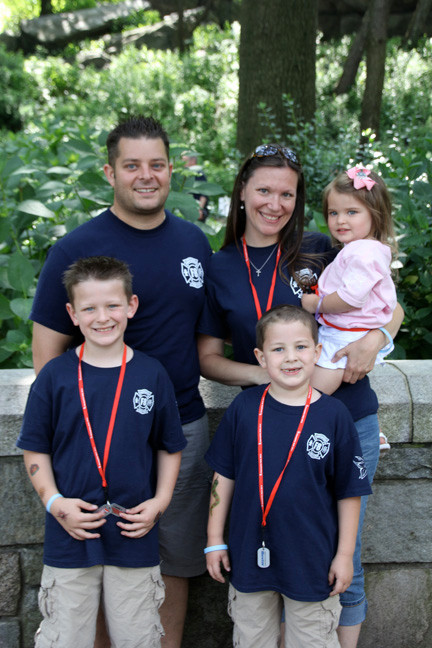 The Ambrosio family walked with �Christopher�s Crew� last year, and will do again on June 2. Pictured were Danny and Kelly with Christopher, 8, left, Connor, 7, and Kelsey, 3.