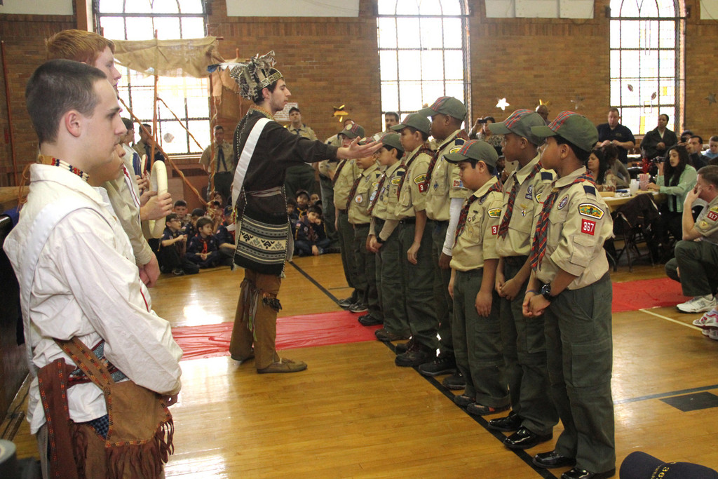 The Bridging Ceremony was led by the Order of the Arrow Ceremonial Team for Pack 367 Cub Scouts who are now ready to join the Boy Scouts.