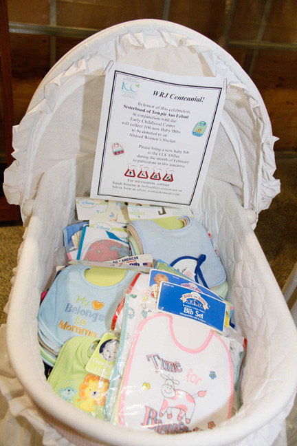 One hundred Bibs were donated to an abused women's shelter.