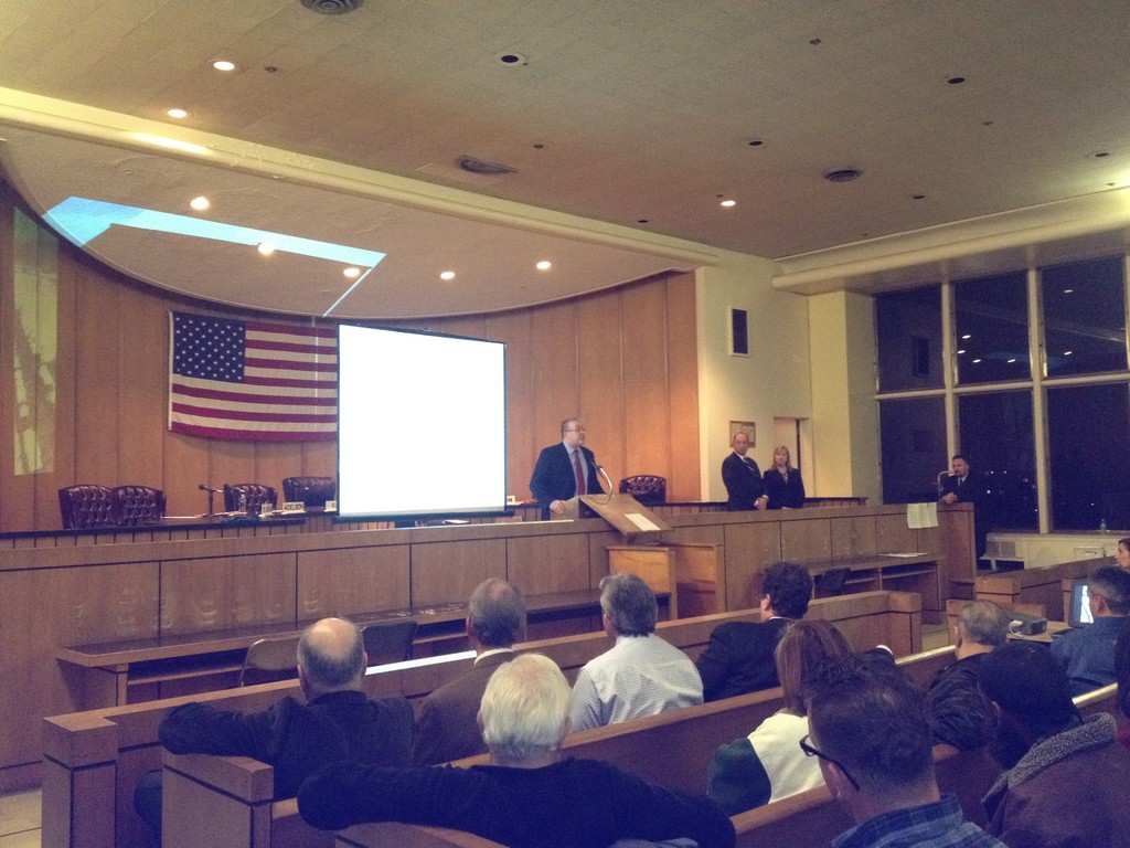 Public works commissioner Jim LaCarrubba presented the new preliminary design at Tuesday's City Council meeting.