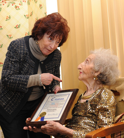 County Legislator Norma Gonsalves said she was �thrilled� to join Reder for her birthday.