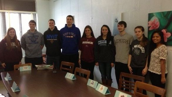 Nine Calhoun High School senior athletes have been recruited to play sports in college.