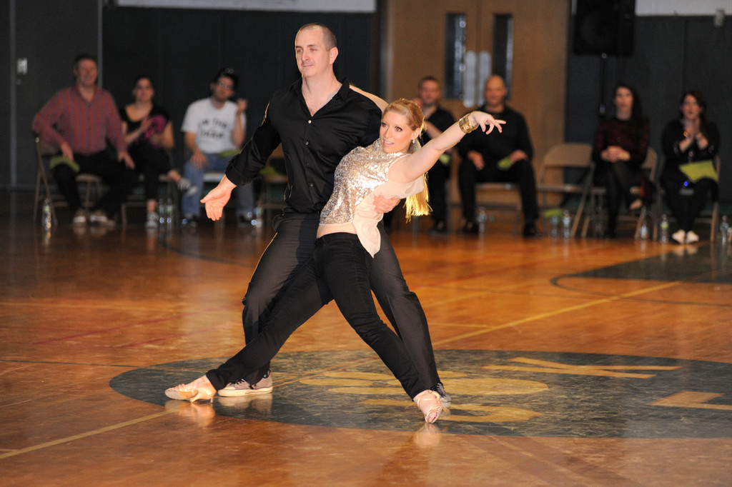 Dennis Ringel, of the phys. ed. department, danced like a pro with Mary Cornetta.