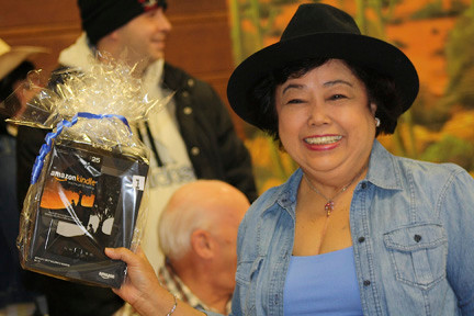 "Marline vanleuvan won a Kindle at ""Wild West Bingo"" night on March 9."