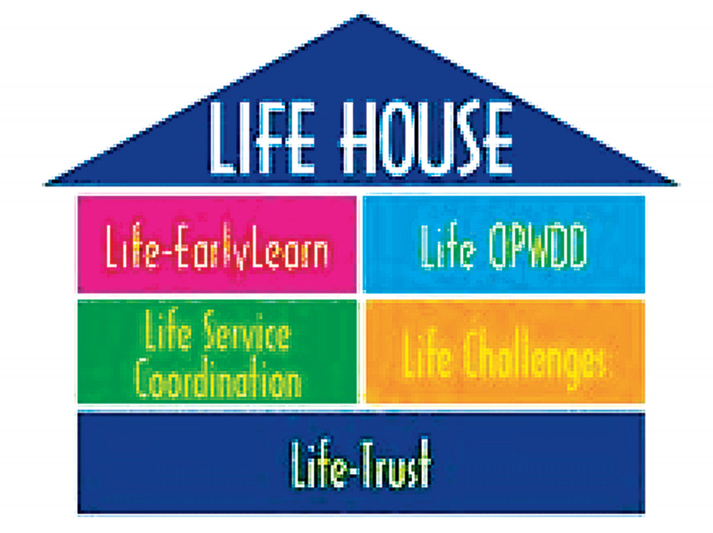 LIFE's lighthouse logo displays the variety of services the organization offers, including daycare for the underserved and poverty-stricken in Brooklyn and for the developmentally disabled.