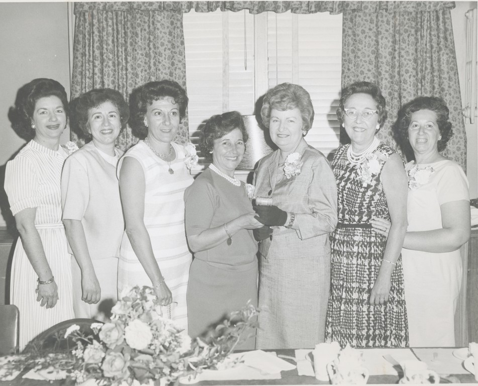 The First officers of the Valley Stream Garden Club, which was formed 49 years ago.