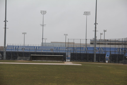 The baseball diamonds at Mitchel Field would be improved if the deal between Molloy and the county goes through.