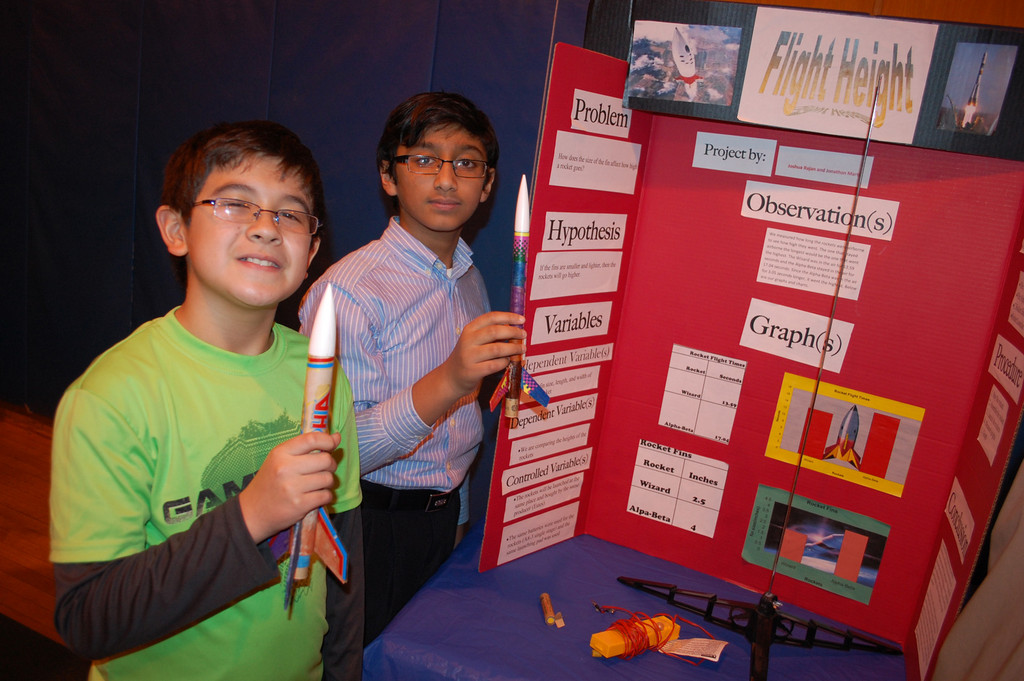 Jonathan Martin and Joshua Rajan studied rocket science for their project.