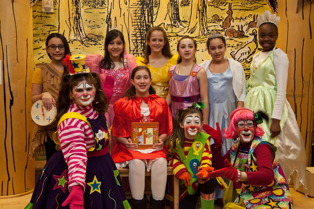 McVey and Woodland students Gillian Ramirez, Skylar Caruso, Sophia Armas, Angela Moredry, Audrey Henwen, Amanda Joglar, Alexis Caruso, Sofia Romirez and Cana Brunson all dressed up as their favorite fictional characters for the occasion.