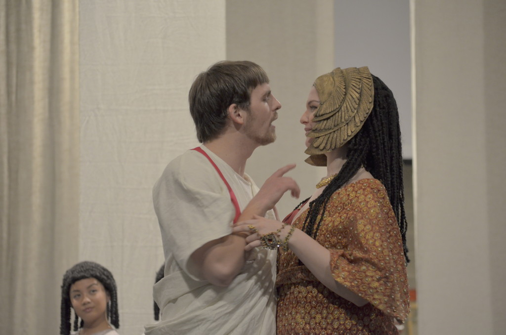 Hofstra's Production of Antony and Cleopatra stars senior Max Baudisch as Antony and junior Cassandra DeMarco as Cleopatra.