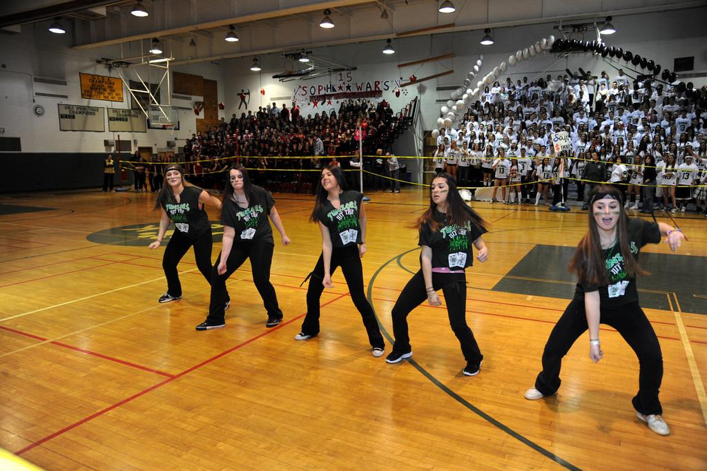 "Members of Kennedy High School's class of 2014, who chose the ""junior jackpot"" theme for their team, strutted their stuff in the dance competition at Class Night on March 7. The dance contest was one of several events that students in each grade took part in that evening, with the seniors emerging victorious in the overall competition."