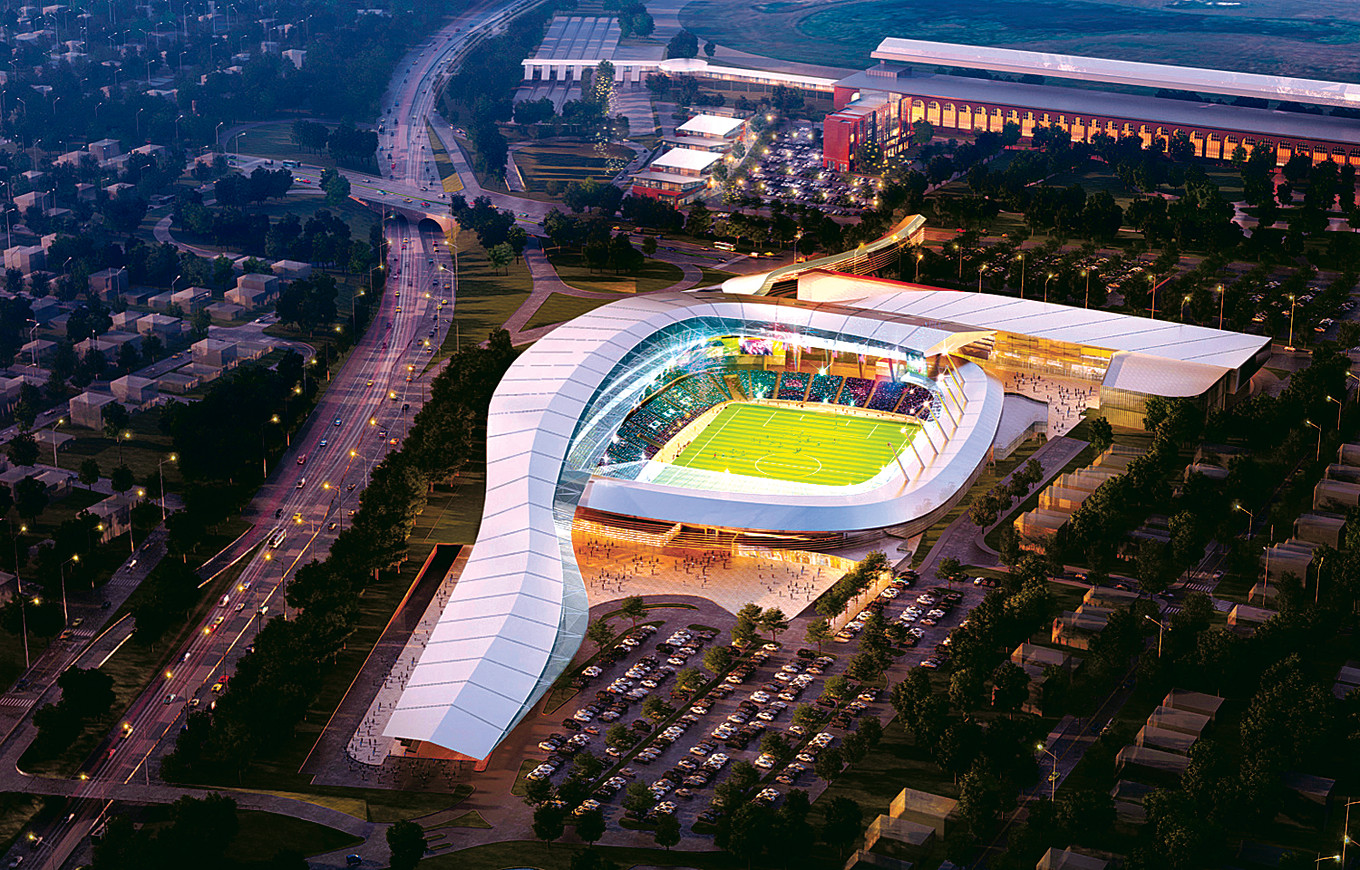 An Artist's rendering of the soccer 
