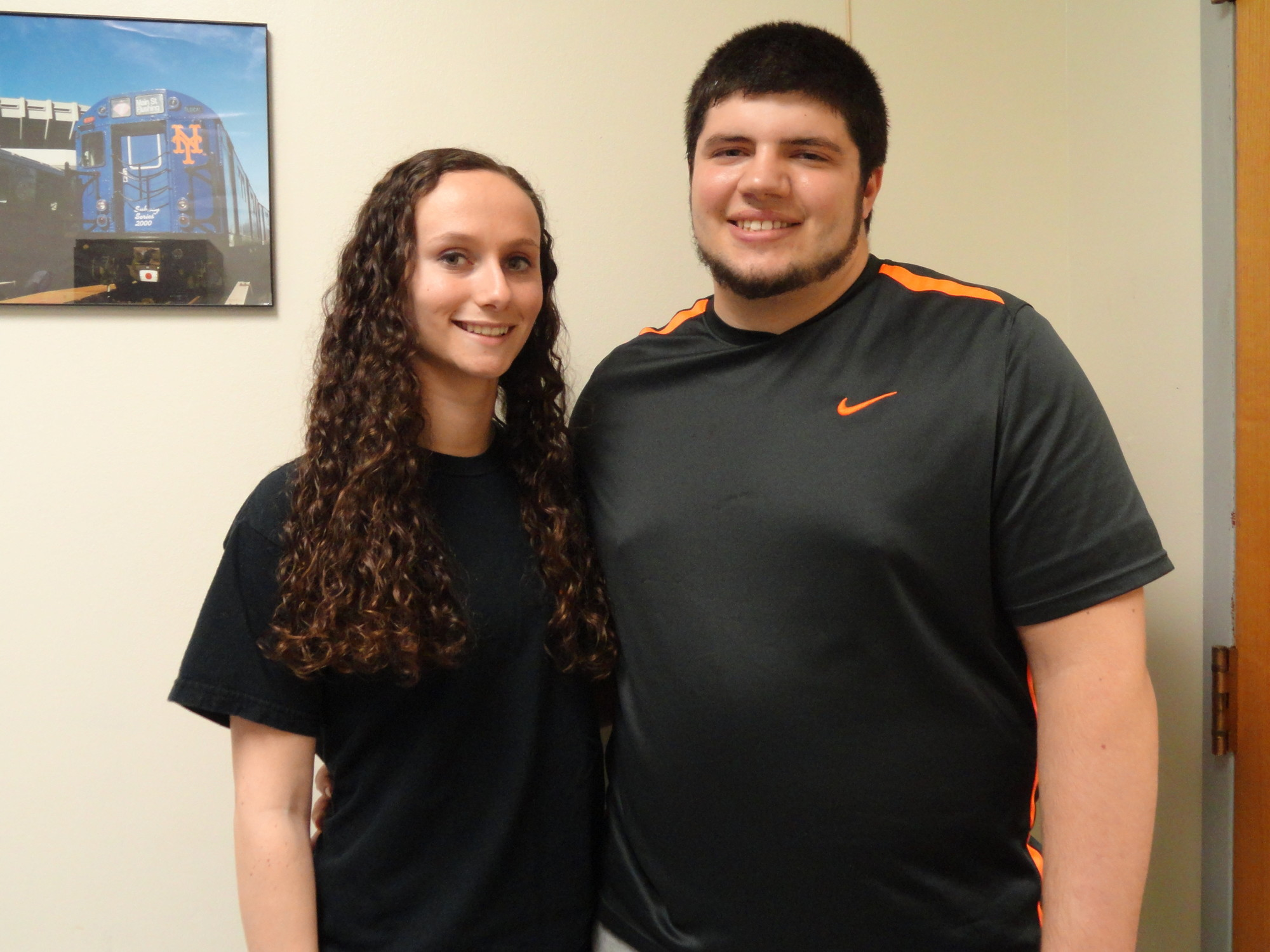 (L) Sean Nagy and Shannon O'Connell were H. Frank Carey High School's Seniors of the Month in Feb.
