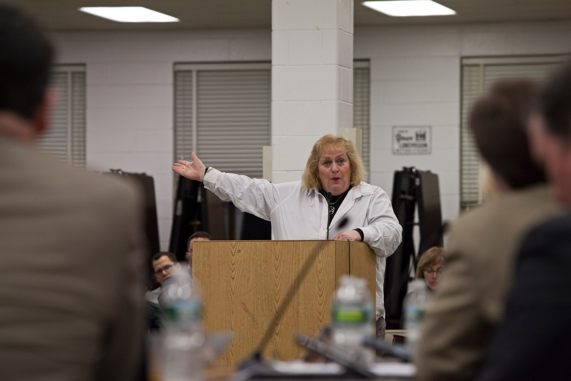 Sharon Daly implored school board members to reconsider transportation changes.