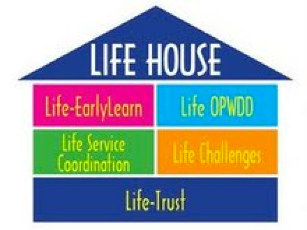 LIFE's lighthouse logo displays the variety of services the Cedarhurst-based organization offers from daycare to helping the developmentally disabled.