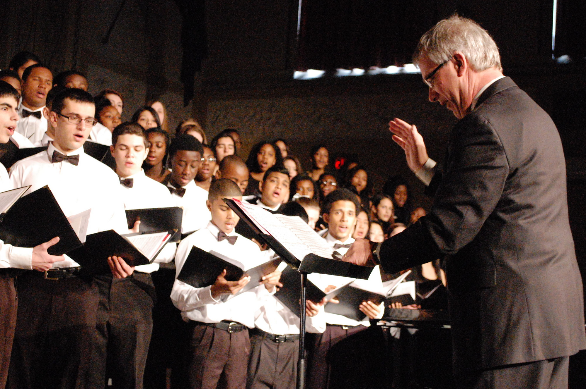Dr. Thomas Zatorski conducted the District Mixed Chorus.