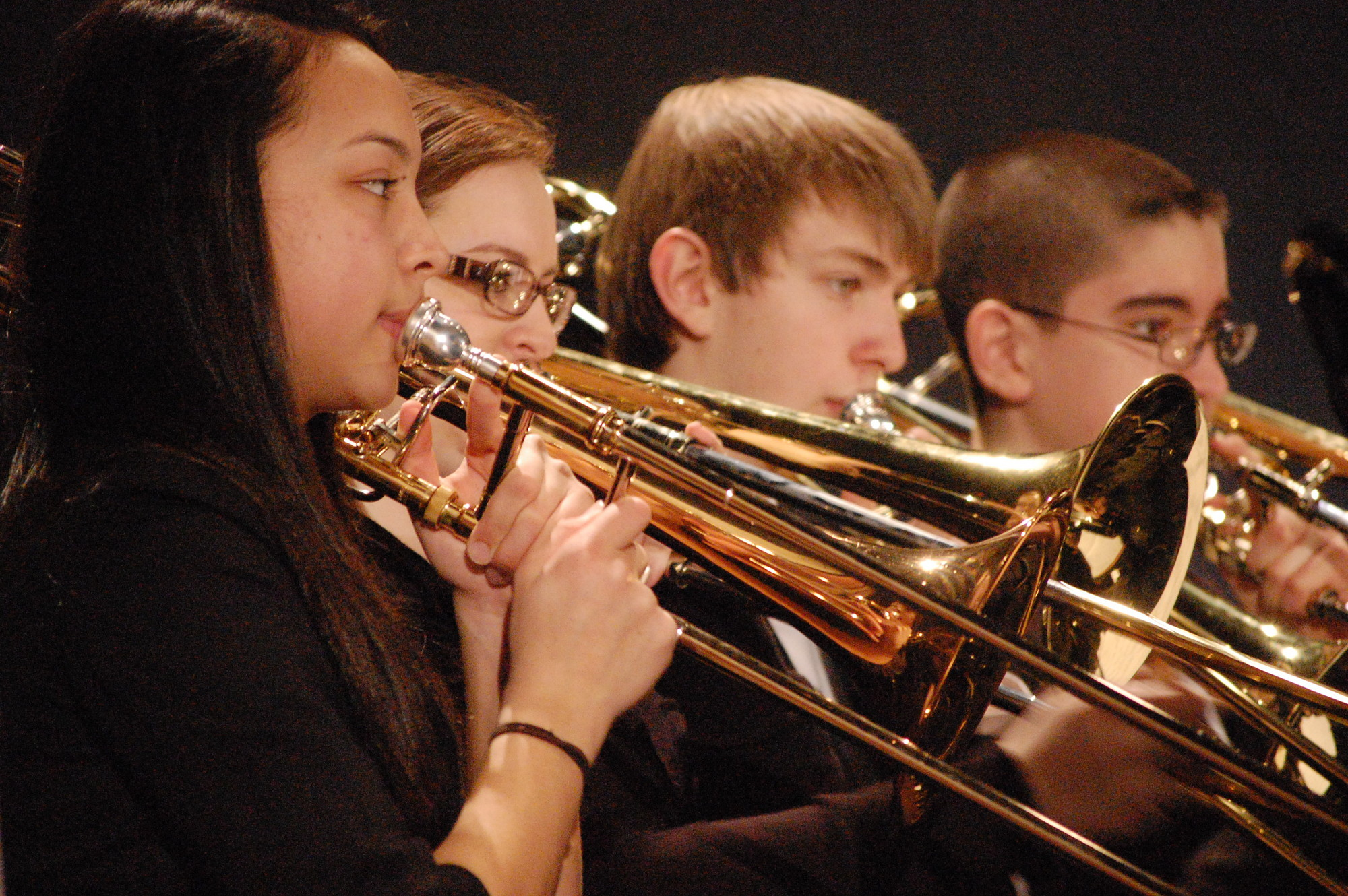 The Concert Band performed four music selections at the District Festival.