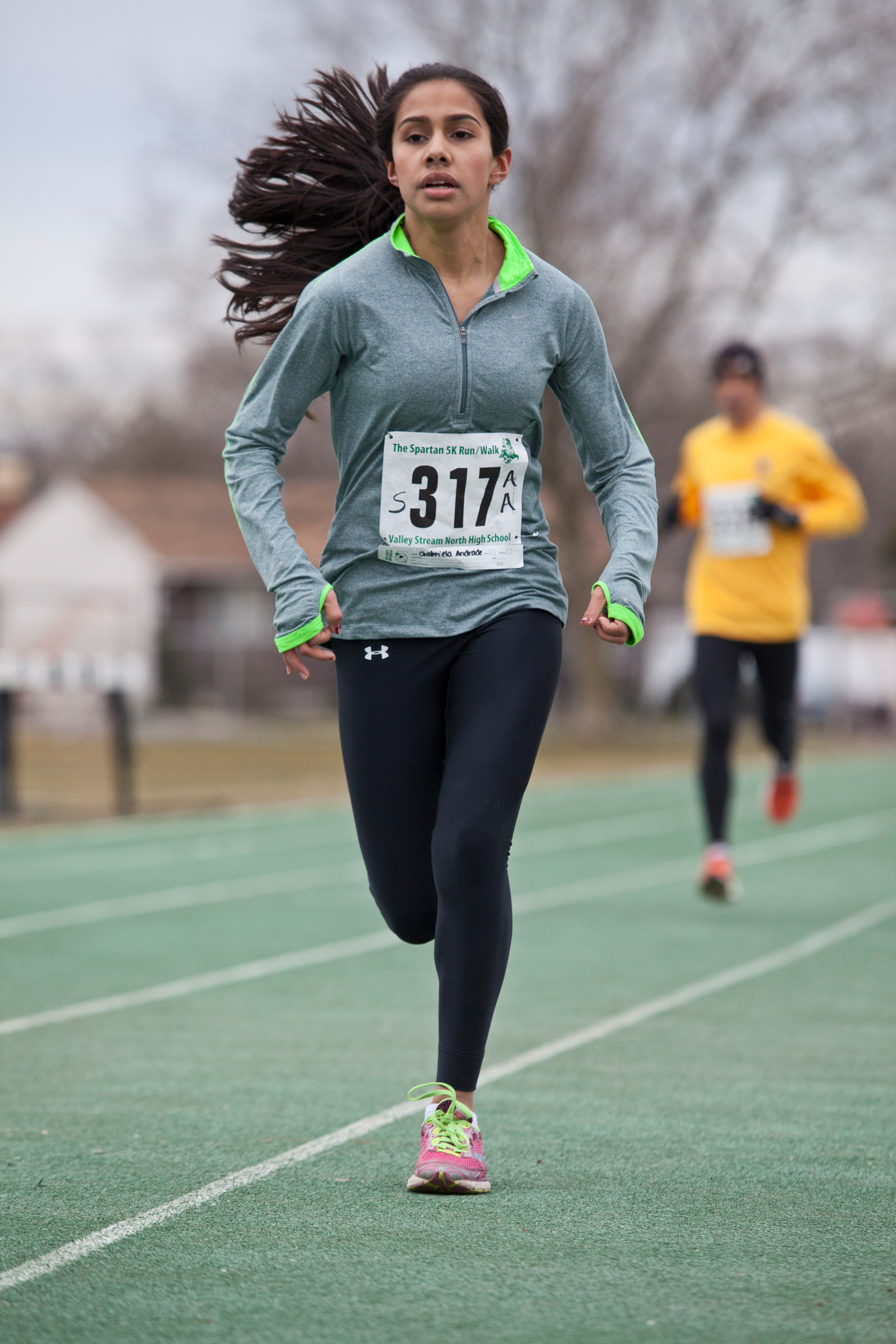 Andrade Gabriela, 14, finished first in the women's division in the Spartan 5K.