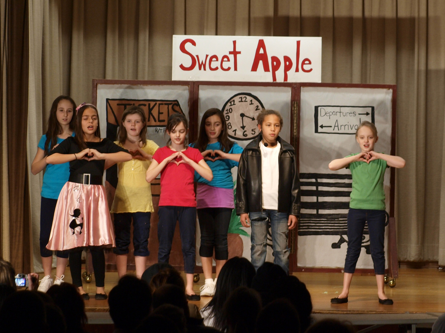 "McVey Elementary School students entertained audience members with their portrayal of the 1960 classic, ""Bye Bye Birdie,"" a musical whose story was inspired by Elvis Presley."