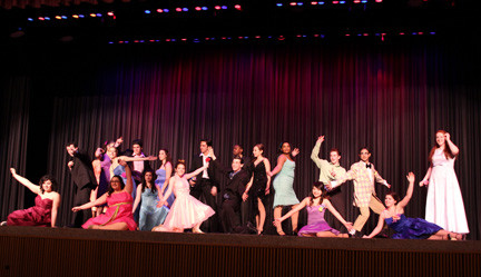 "The ensemble cast of ""Grease,"" performed by W.T. Clarke High School students, entertained a large audience with their reenactment of the classic musical."