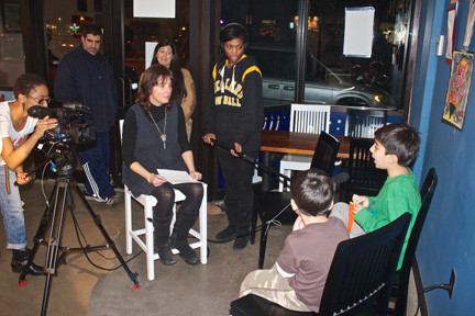 Mary Anne trasciatti, founder of the Hurricane Sandy Long Beach Oral History Project, and her film crew conducted many of the interviews at Gentle Brew Coffee Roasters.