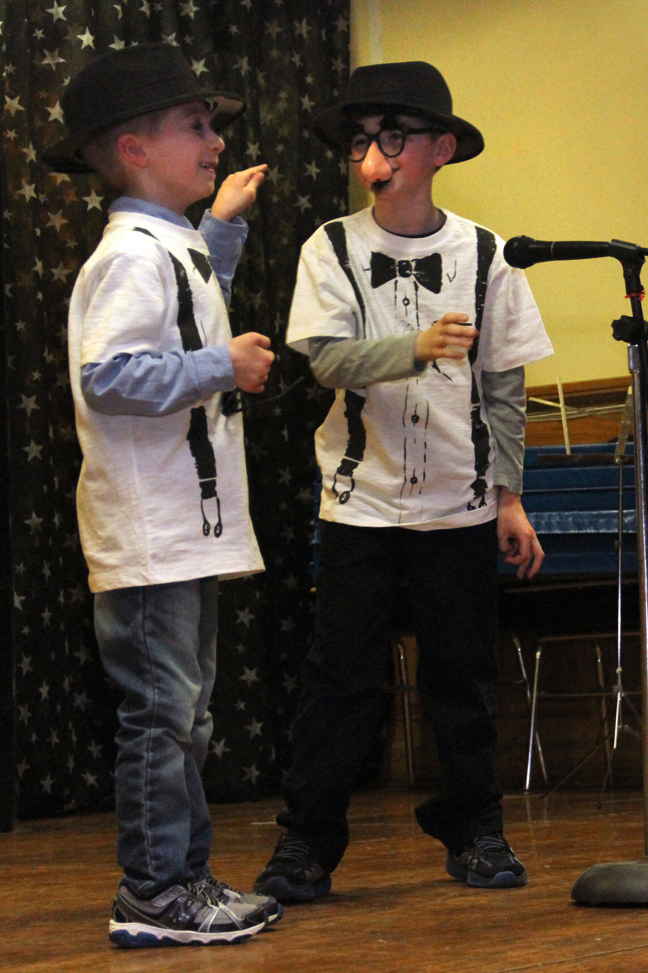 The team of Nicholas Prizzi and Jack Osborne perform a comedy skit.