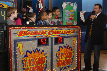 "These students at Maurice W. Downing Primary School in Malverne showed off their number knowledge in this round of ""The Brain Challenge."""