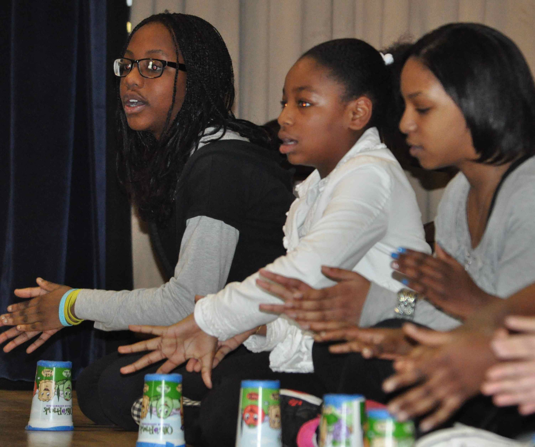 Sixth-graders at Gotham Avenue School in Elmont performed �The Cup Song� on March 15 to celebrate the upcoming spring season.