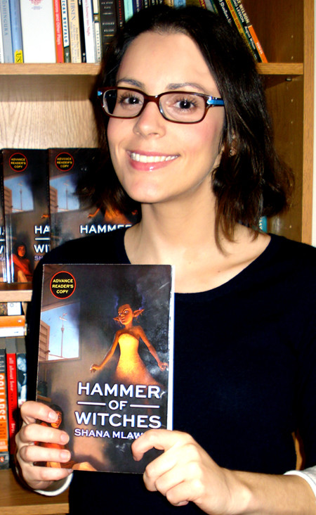 "Woodmere resident Shana Mlawski, passionate about writing since she was a young girl, will have her first novel, ""Hammer of Witches,"" published  on April 9."