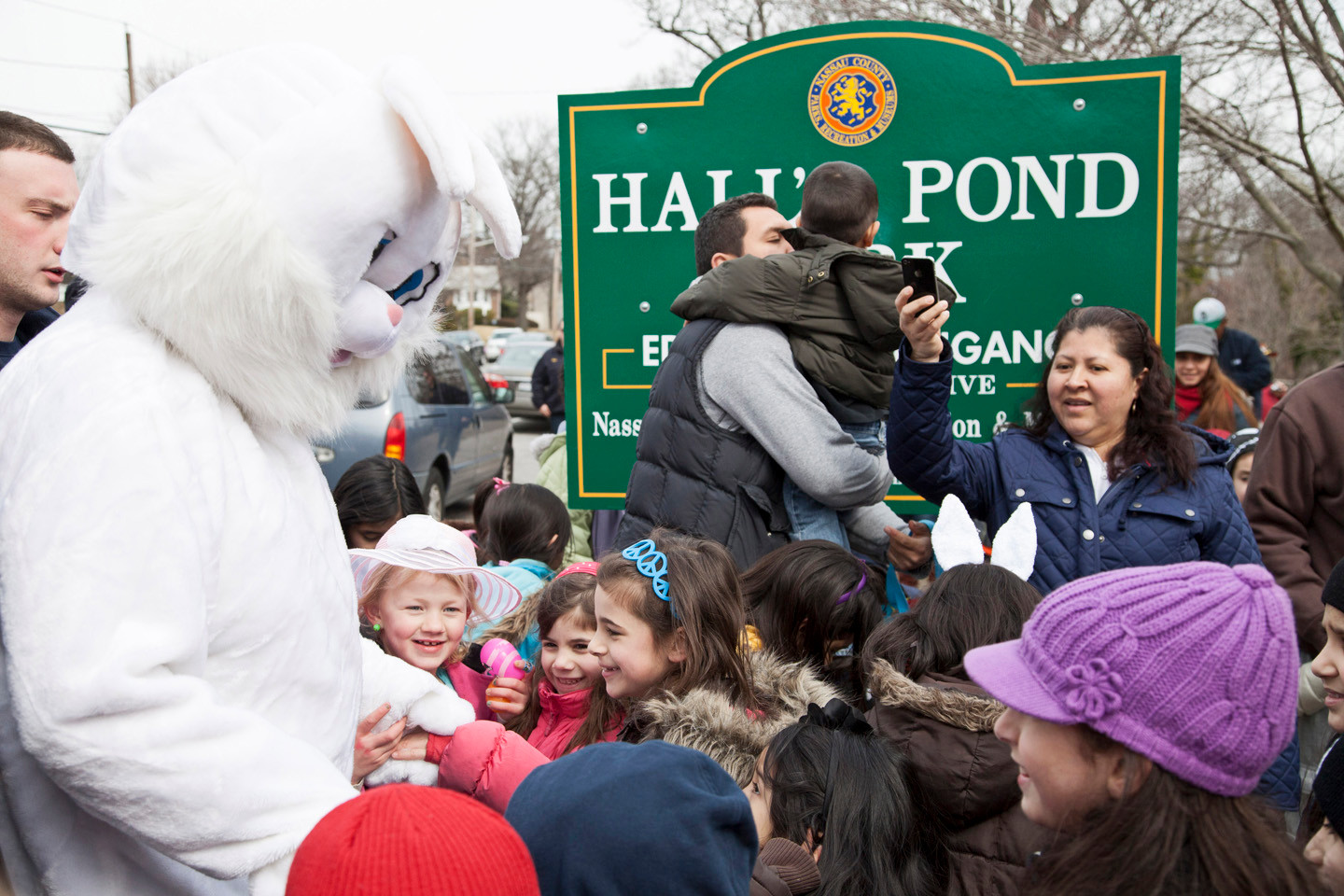 Hall's Pond Park was the scene of lots of egg hunting on March 23, thanks to the Lions Club, as kids and adults alike searched the park.