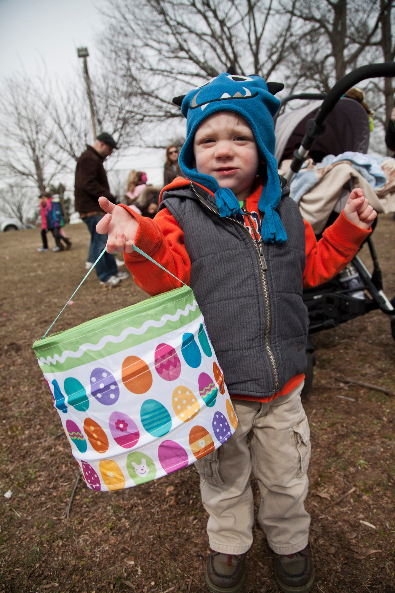 Thomas Moriarty 3, having fun at the easter egg hunt.