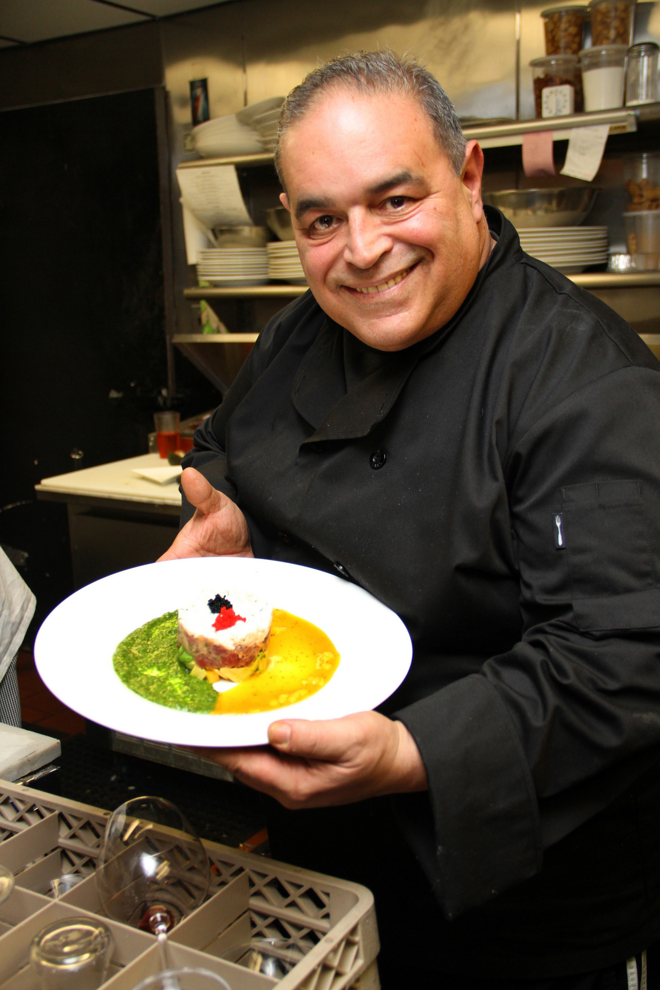 Joe Gannascoli with one of his delicious dishes.
