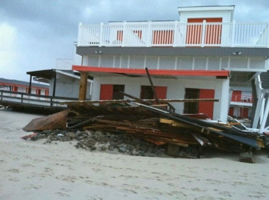 The Sunny Atlantic Beach Club sustained extensive 