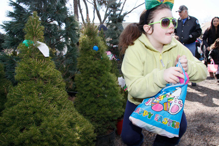 Tara Doran, 10, of East Meadow, was on the prowl for Easter eggs.