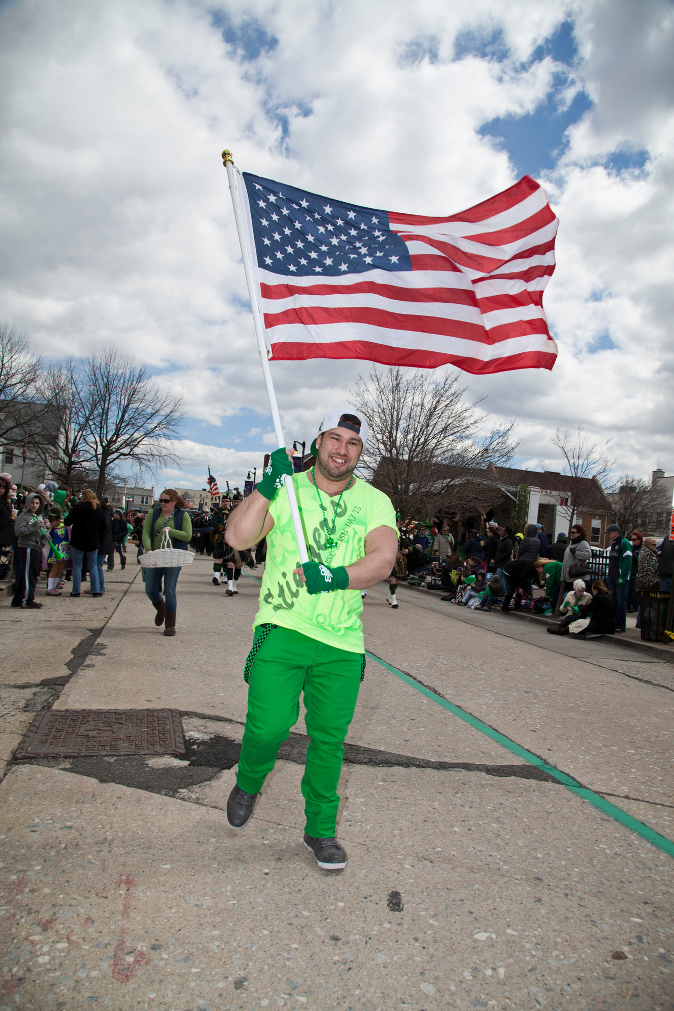 Andrew Cortazzo showed off his Irish and American pride.