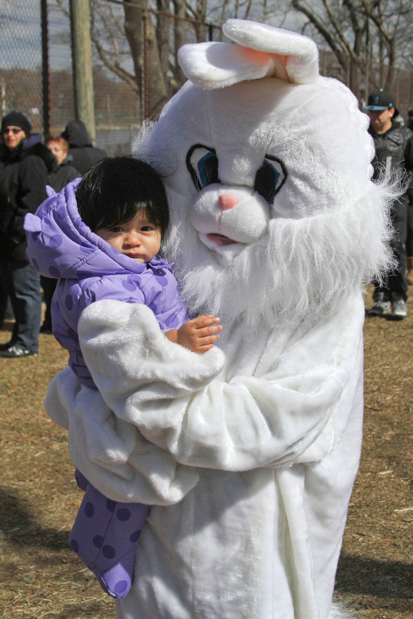 Giselle Torres, 1, got to meet the Easter Bunny on Saturday.