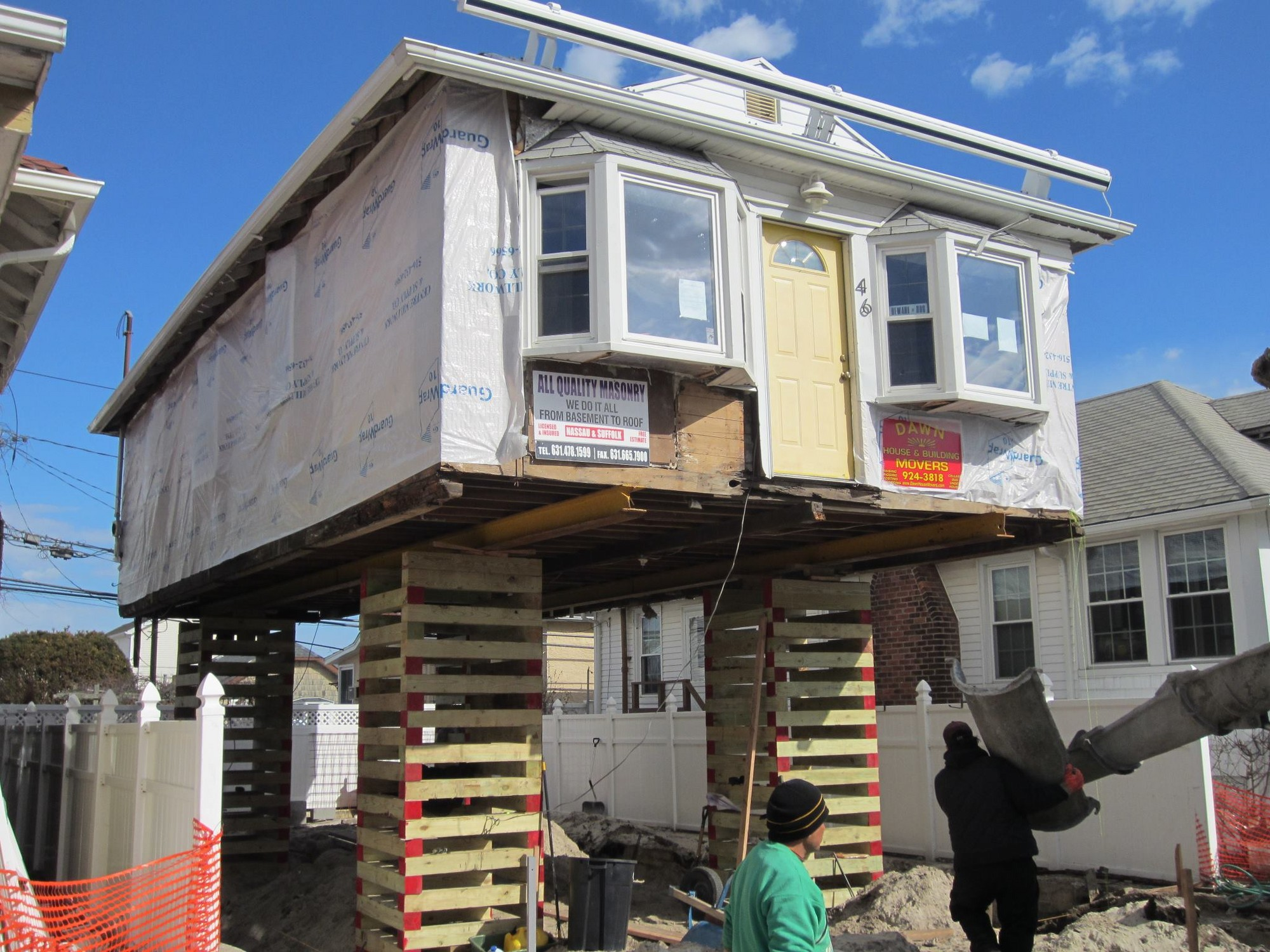 The city said about 865 homes in Long Beach need to be either elevated or completely rebuilt.