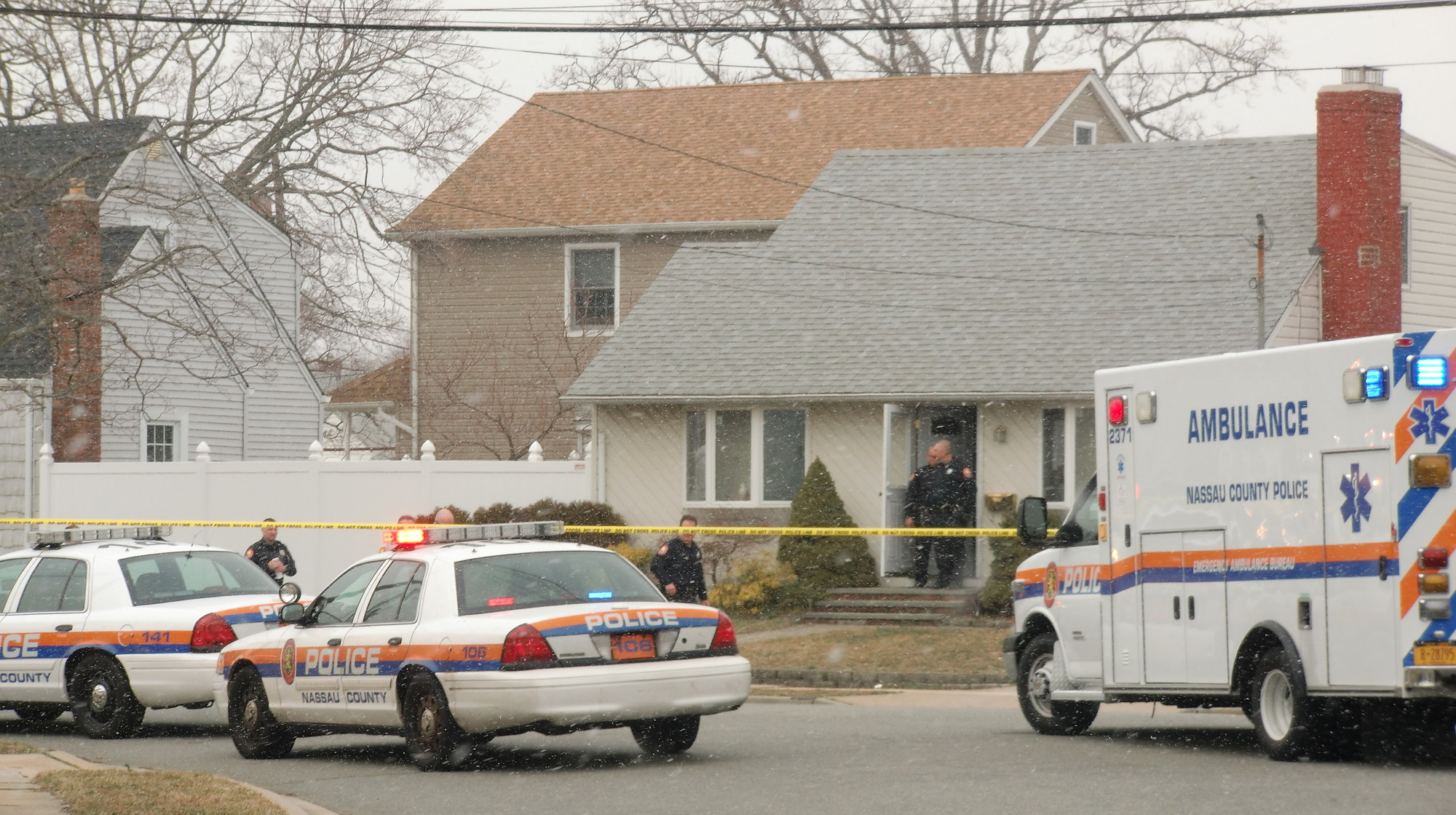 Police said that a man found his mother and father dead in a home on Leonard Street in North Bellmore on March 21.