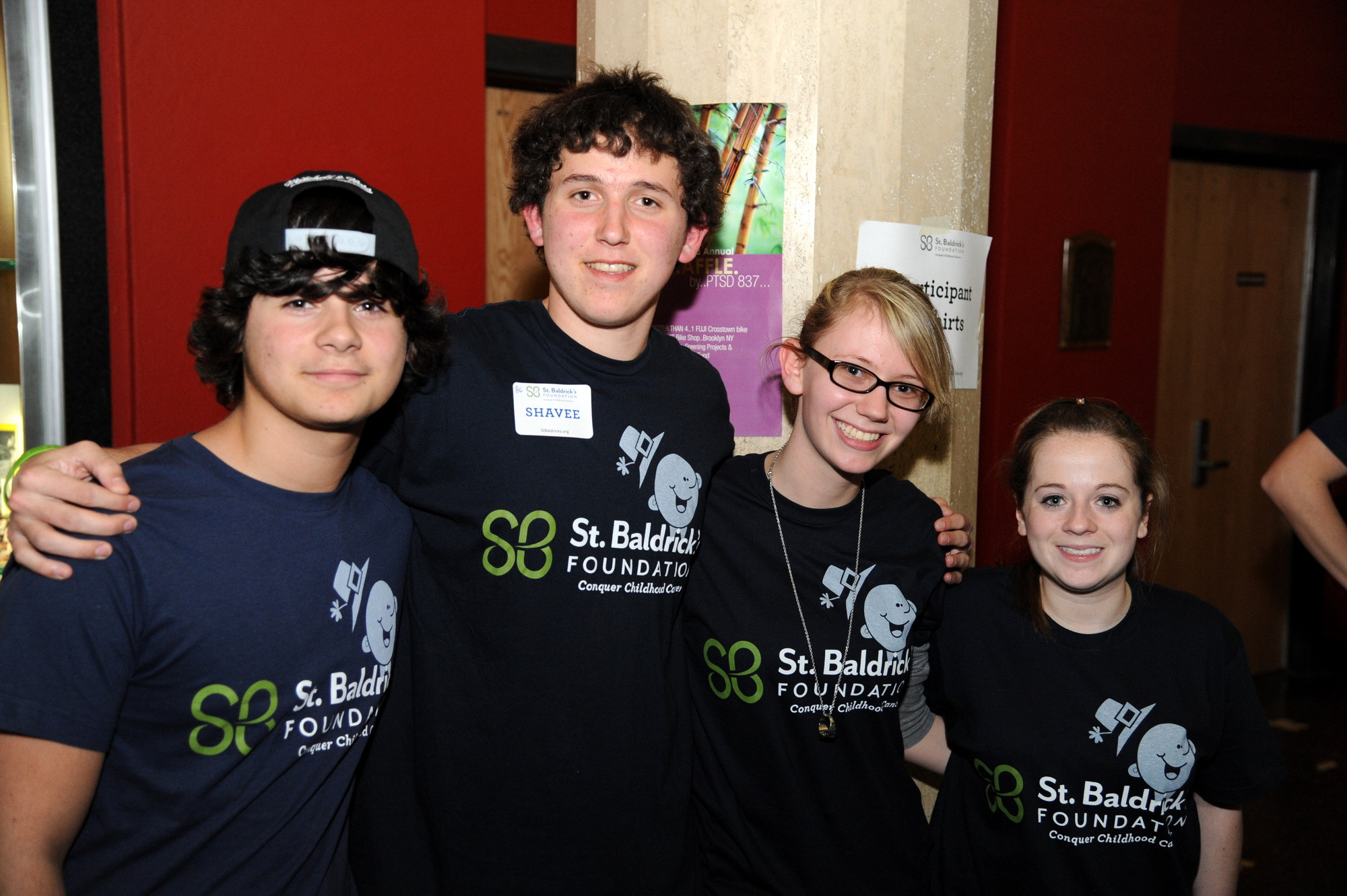 Nick Turco, James Murphy, Samantha Moskowitz and Nicole Salamone sold shirts to raise more money at the event.