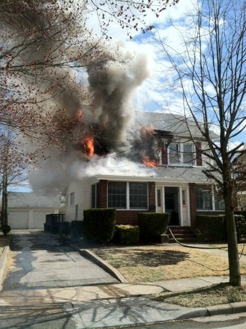 Fire was confined to one room in a Miriam Street home in Valley Stream on Saturday.