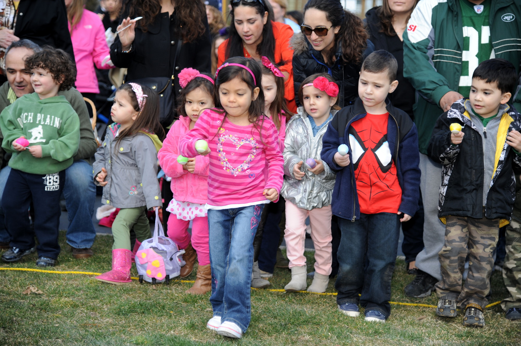 Dozens of children participated in the Easter egg race at St. Joseph's R.C. Church in Hewlett on Saturday.
