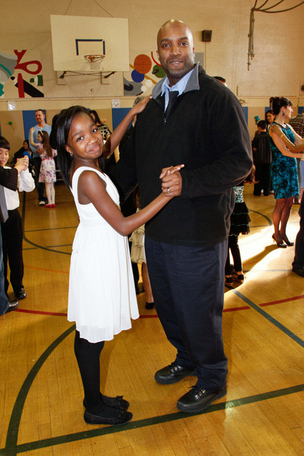 After the performance, students and their parents got to share a dance including Ahmya and Tony McMillan.