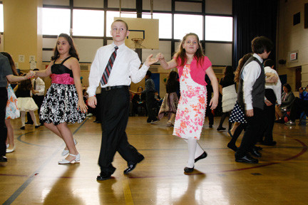 Fourth-grade students showed off the dances they learned on March 19.