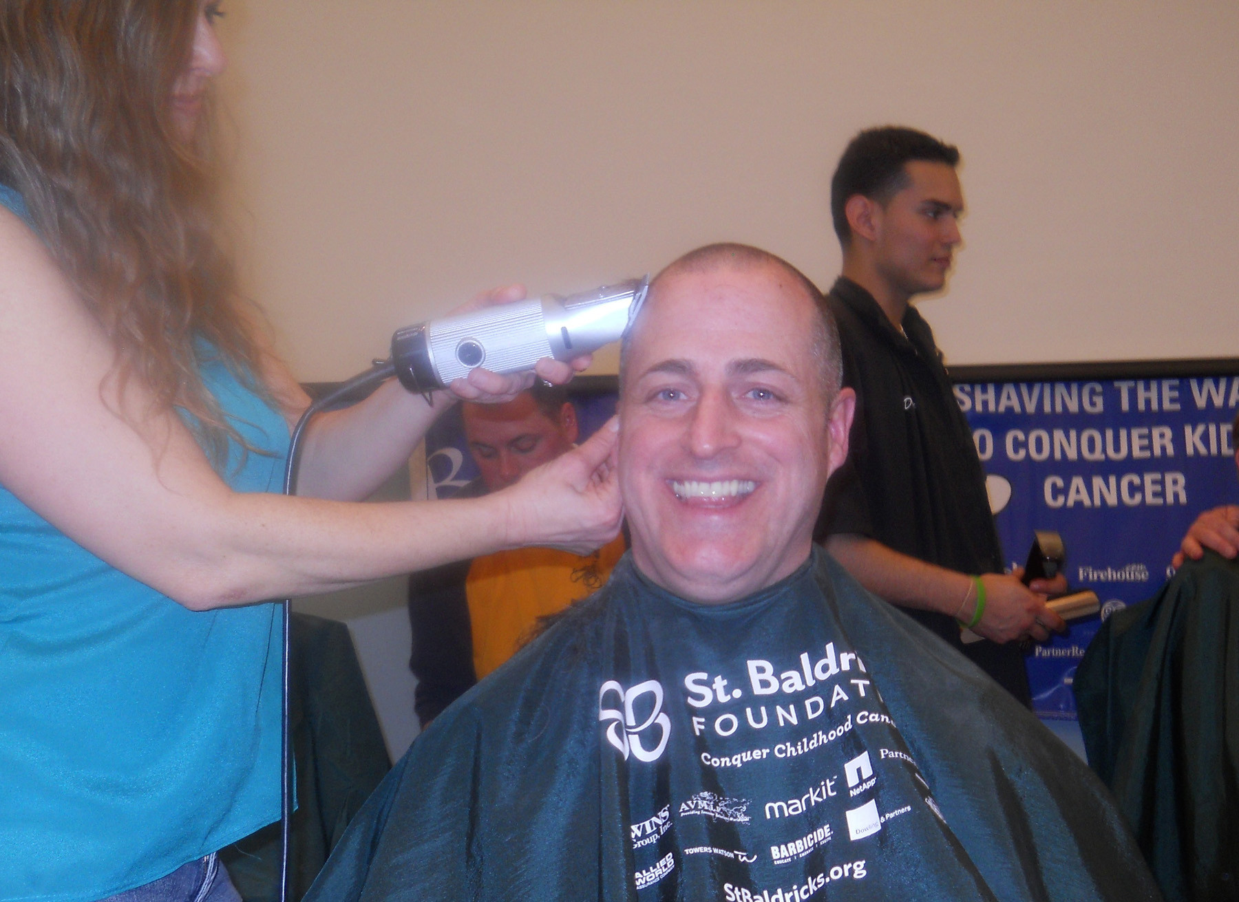 Assemblyman Brian Curran shaved his during the St. Baldrick's charity event held in Rockville Centre.