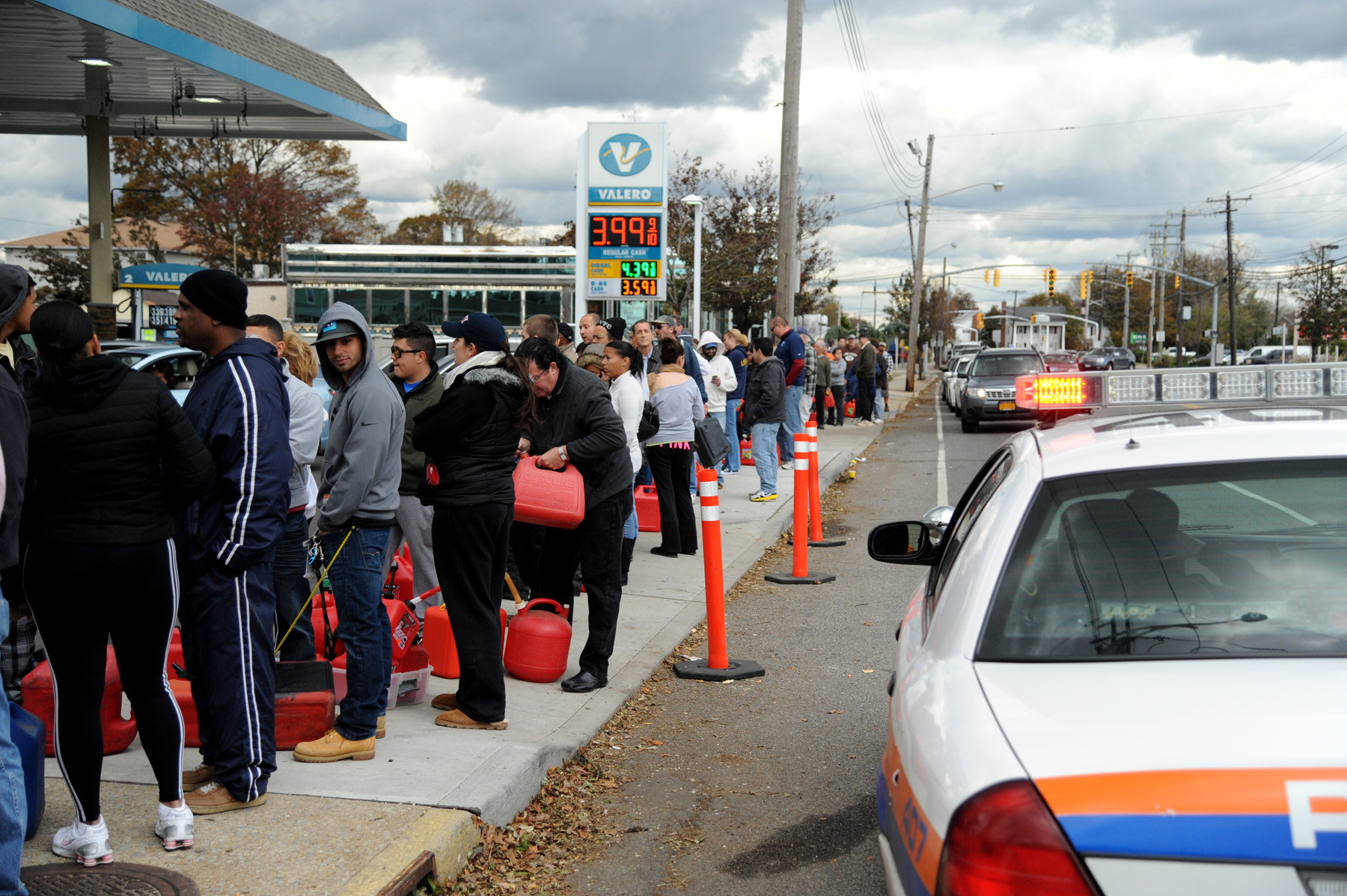 Lengthy gasolines lines were commonplace across Nassau County following last October's Hurricane Sandy.