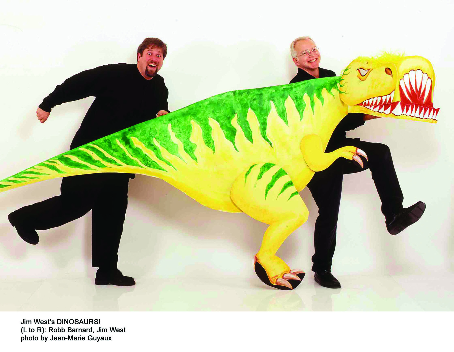 Puppeteer Jim West is on the hunt for dinosuars in his new show, on Sunday, at the Landmark on Main Street.