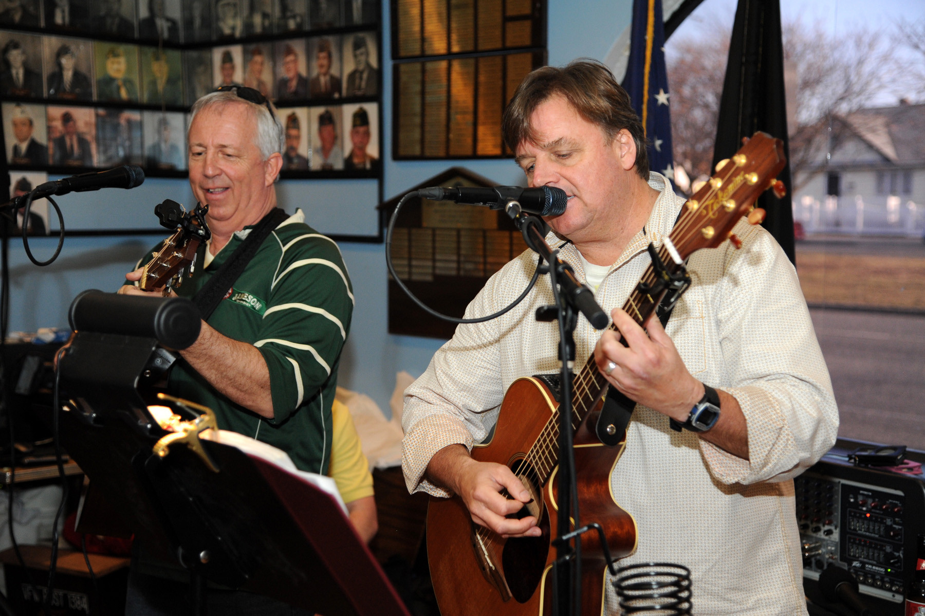 Rick Rempe and Brian Monaghan performed at the Shine's fundraiser at the VFW last Saturday.
