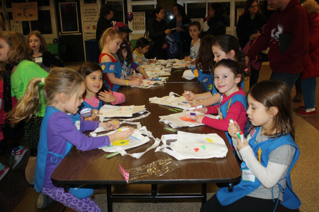 Daisy Girl Scouts from Oceanside and Island park got together to do projects and activities and learned about girl scouts from all over the world.
