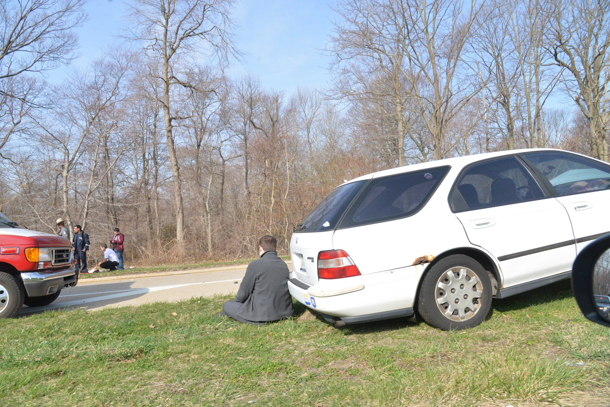The accident on the Meadowbrook Parkway led one person to be treated for minor injuries.